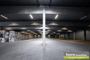 Größere Teilflächen in Lagerhalle zu vermieten